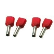 Twin adereindhuls geisoleerd rood 2x1,0mm