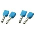 Twin adereindhuls geisoleerd blauw 2x2,5mm